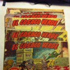 Tebeos: COSACO VERDE - LOTE DE 16 EJEMPLARES. Lote 177591343