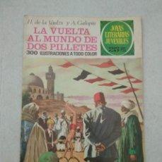 Tebeos: JOYAS LITERARIAS JUVENILES - VAULZX Y GALOPIN - LA VUELTA AL MUNDO DE DOS PILLETES - Nº 164 - 1976. Lote 178094745