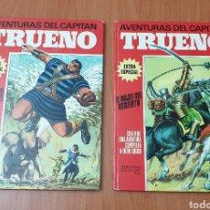 Tebeos: LOTE 2 TEBEOS AVENTURAS DEL CAPITAN TRUENO (BRUGUERA, 1970). Lote 178202845