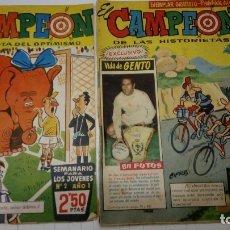 Tebeos: EL CAMPEON - LOTE DE 2 Nº : 2 (DE RETAPADO) Y 56 - BRUGUERA 1960 - ORIGINALES. Lote 178212643
