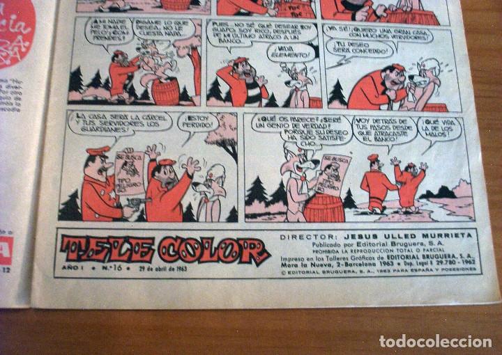 Tebeos: TELE COLOR - NÚMERO 16 - AÑO 1963 - PERFECTO ESTADO - Foto 3 - 178387811