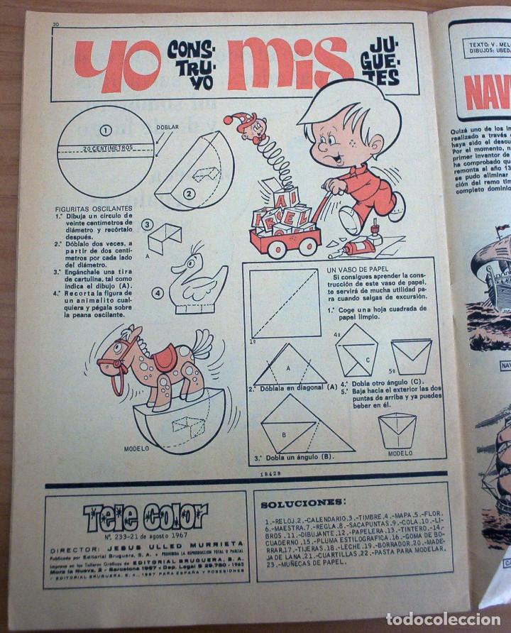 Tebeos: TELE COLOR - Nº 233 - AÑO 1967 - MUY BUEN ESTADO - Foto 9 - 178598208
