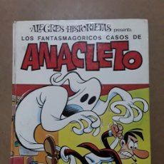 Tebeos: ALEGRES HISTORIETAS,N°19,LOS FANTASMAGÓRICOS CASOS DE ANACLETO,BRUGERA 1.ª EDICIÓN 1972. Lote 221957975