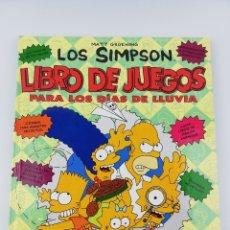 Livros de Banda Desenhada: LOS SIMPSON LIBRO DE JUEGOS PARA LOS DIAS DE LLUVIA. Lote 178897420