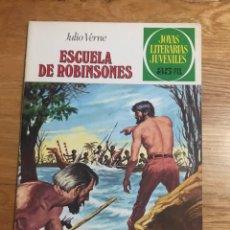 Tebeos: JOYAS LITERARIAS JUVENILES ESCUELA DE ROBINSONES JULIO VERNE NÚMERO 108. Lote 178912441