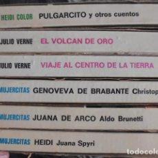 Tebeos: HISTORIAS COLOR , 8, MUJERCITAS 3,JULIO VERNE 2, HEIDI COLOR 1, Y DOS MAS, VER IMAGENES. Lote 179171337