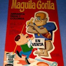 Tebeos: MAGUILA GORILA ARRANCA PEGA Y COLOREA DE BRUGUERA AÑO 1970. Lote 179173665