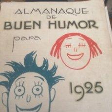 Tebeos: ALMANAQUE BUEN HUMOR 1925. Lote 179401660