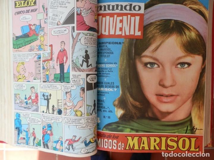 Tebeos: 57 MUNDO JUVENIL. LOS AMIGOS D MARISOL. COLECCIÓN ENCUADERNADA DEL 1 AL 57. EDITORIAL BRUGUERA 1963. - Foto 3 - 180005412