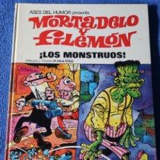 Tebeos: LOS MONSTRUOS - MORTADELO Y FILEMÓN - ASES DEL HUMOR - BRUGUERA (1973). Lote 180029450