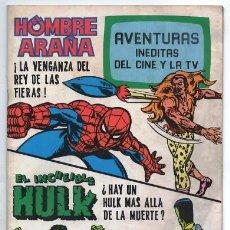 Tebeos: 1981 HOMBRE ARAÑA # 12 SPIDER MAN EL INCREIBLE HULK LA MASA BRUGUERA STAN LEE MARVEL 52 PAG EXCELENT. Lote 180043081