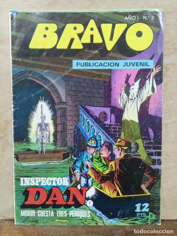 BRAVO, INSPECTOR DAN - AÑO I, Nº 2, MORIR CUESTA TRES PENIQUES - ED. BRUGUERA (Tebeos y Comics - Bruguera - Bravo)