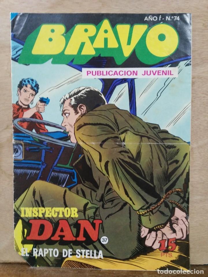 BRAVO, INSPECTOR DAN - AÑO I, Nº 74, PELIGRO EN LA CIUDAD - ED. BRUGUERA (Tebeos y Comics - Bruguera - Bravo)