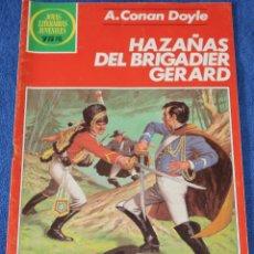 Tebeos: JOYAS LITERARIAS JUVENILES Nº 269 - HAZAÑAS DEL BRIGADIER GERARD - A.CONAN DOYLE - BRUGUERA. Lote 180144801