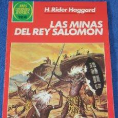 Tebeos: JOYAS LITERARIAS JUVENILES Nº 156 - LAS MÍAS DEL REY SALOMÓN - BRUGUERA. Lote 180145593