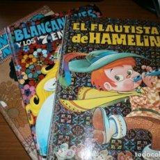 Tebeos: COLECCIÓN BUENAS NOCHES Nº 3,6,8 -BLANCANIEVES, EL FLAUTISTA DE HAMELIN, SIMBAD - EDT. BRUGUERA 1971. Lote 48265699