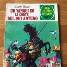 Tebeos: JOYAS LITERARIAS JUVENILES MARK TWAIN UN YANQUI EN LA CORTE DEL REY ARTURO NÚMERO 5. Lote 180184310