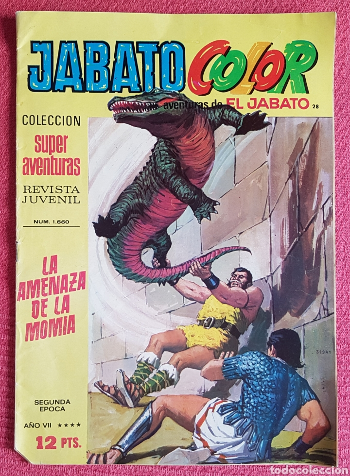 Tebeos: Lote 8 comics (7 Jabato Color) + (1 Trueno Color). - Foto 7 - 180249841