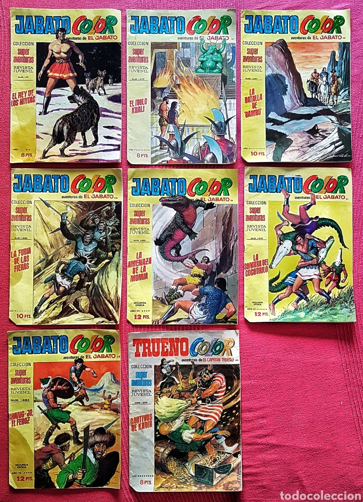 LOTE 8 COMICS (7 JABATO COLOR) + (1 TRUENO COLOR). (Tebeos y Comics - Bruguera - Jabato)