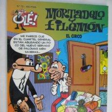 Tebeos: MORTADELO Y FILEMON , COLECCION OLE, EL CIRCO Nº 72 -1999. Lote 180287922