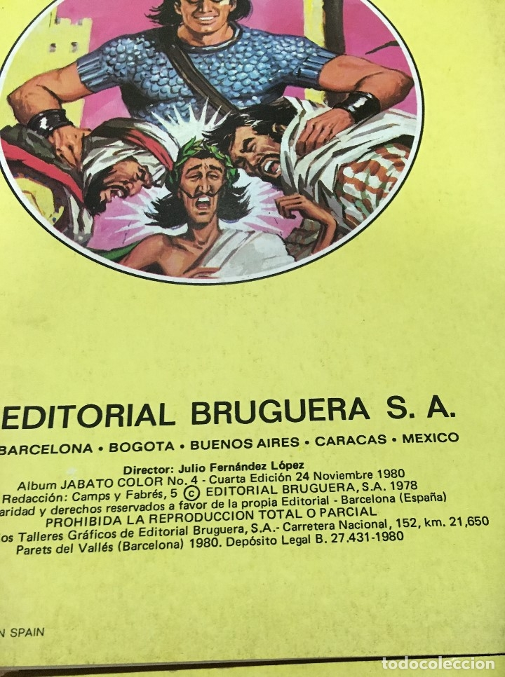 Tebeos: LOTE DE 8 CÓMICS - ÁLBUM COLOR DE BRUGUERA - EL JABATO Nº 1 2 3 4 6 7 8 10 - Foto 7 - 180440280