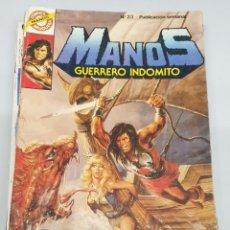 Tebeos: MANOS GUERRERO INDOMITO Nº 23 / BRUGUERA. Lote 180852848