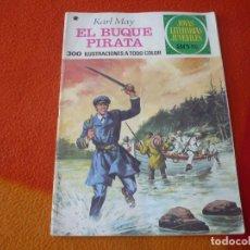 Tebeos: JOYAS LITERARIAS JUVENILES Nº 136 EL BUQUE PIRATA 30 PTS 1978 2ª EDICION BRUGUERA. Lote 181029573