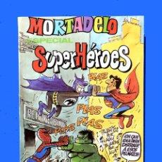Tebeos: MORTADELO ESPECIAL SUPERHÉROES - Nº 123 - 1981 - BRUGUERA, ORIGINAL - BUEN ESTADO. Lote 181509878