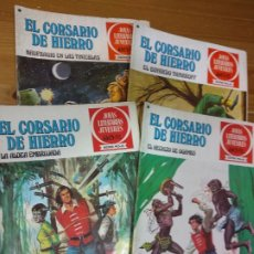 Tebeos: 4 JOYAS LITERARIAS JUVENILES EL CORSARIO DE HIERRO - 14 -15 - 36 - 40. Lote 181623381
