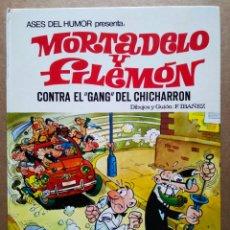 Tebeos: ASES DEL HUMOR N°2: MORTADELO Y FILEMÓN CONTRA EL GANG DEL CHICHARRÓN (BRUGUERA, 1979). POR IBÁÑEZ.. Lote 181762210