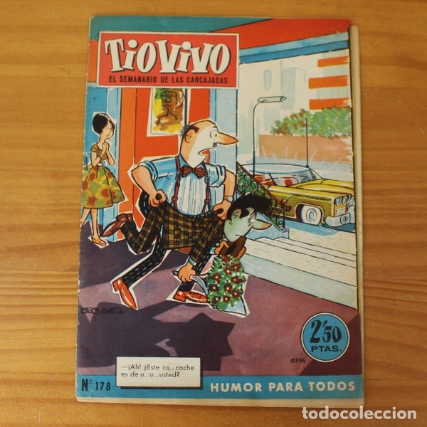 TIO VIVO 178 LEOPOLDO VAGUETE, LA FAMILIA REPANOCHA, DOÑA TRINI Y SUS ANIMALITOS... BRUGUERA 1960 (Tebeos y Comics - Bruguera - Tio Vivo)