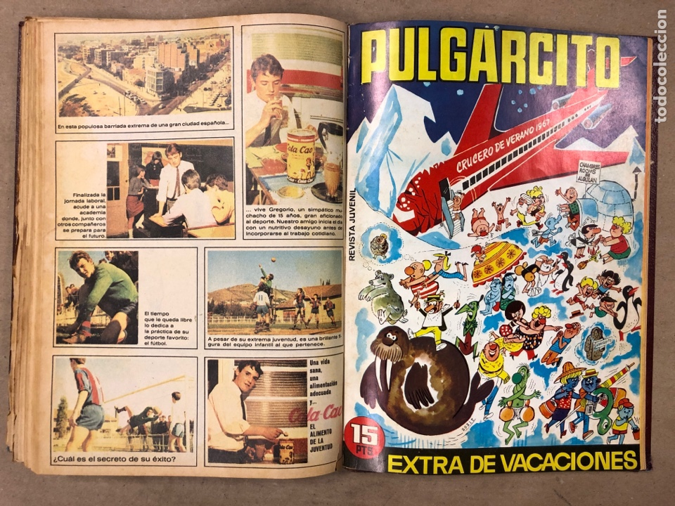 Tebeos: TOMO CON 14 NÚMEROS ENCUADERNADOS DE PULGARCITO. EDITORIAL BRUGUERA 1965/67. - Foto 9 - 182330325