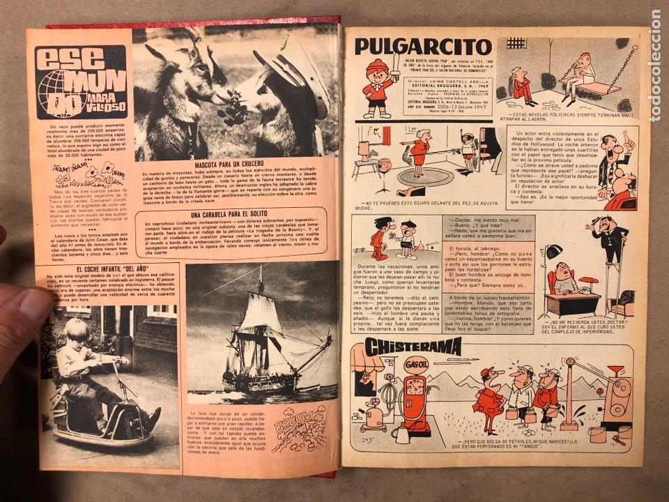 Tebeos: TOMO CON 14 NÚMEROS ENCUADERNADOS DE PULGARCITO. EDITORIAL BRUGUERA 1969/70. - Foto 4 - 182330571