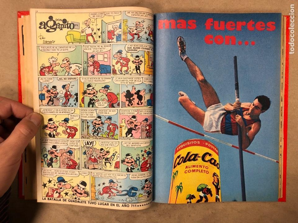 Tebeos: TOMO CON 14 NÚMEROS ENCUADERNADOS DE PULGARCITO. EDITORIAL BRUGUERA 1969/70. - Foto 7 - 182330571