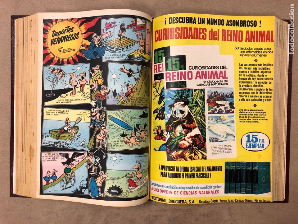 Tebeos: TOMO CON 23 TEBEOS ENCUADERNADOS DIN DAN EDITORIAL BRUGUERA 1968/69. - Foto 28 - 182332725