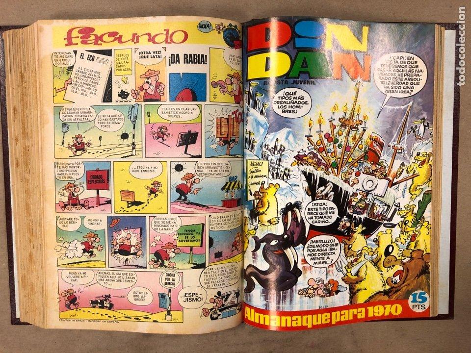 Tebeos: TOMO CON 16 TEBEOS ENCUADERNADOS DIN DAN EDITORIAL BRUGUERA 1969/70. - Foto 17 - 182332846