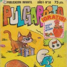 Tebeos: PUBLICACIÓN INFANTIL PULGARCITO AÑO II Nº 58. Lote 182420070