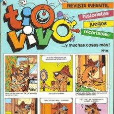 Tebeos: TIO VIVO Nº 15 HISTORIETAS RECORTABLES JUEGOS NUEVO 1986 BRUGUERA. Lote 182467076