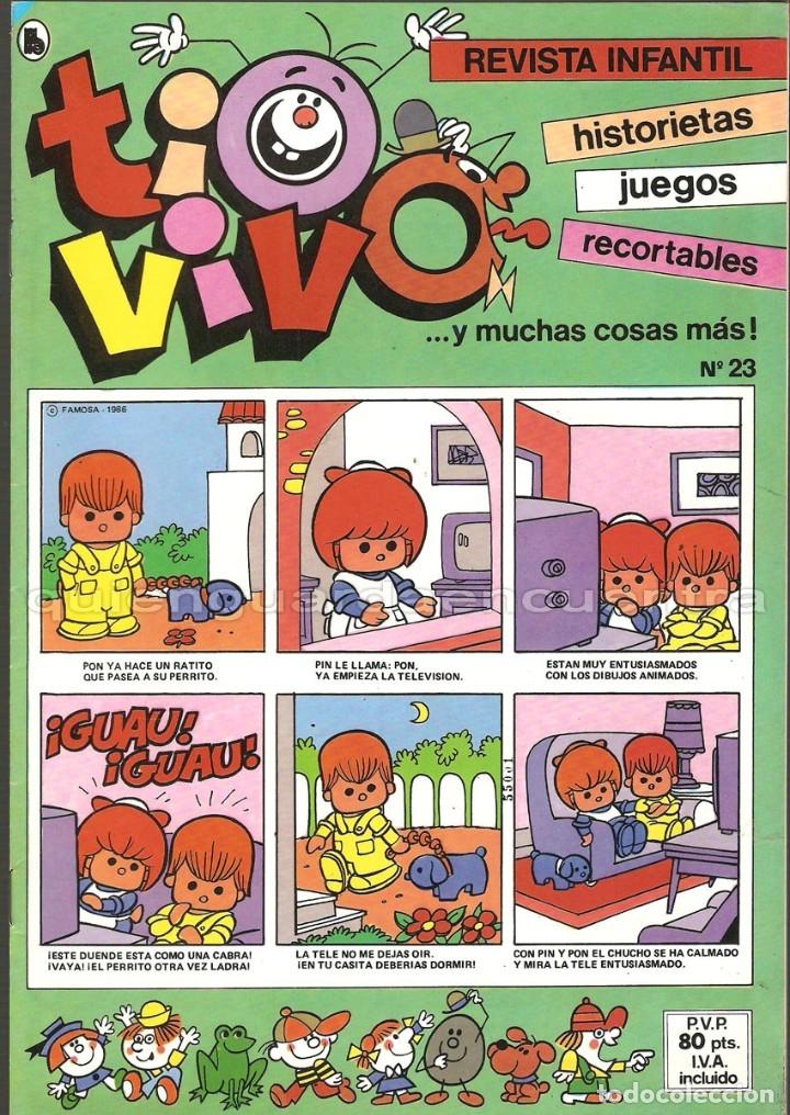TIO VIVO Nº 23 HISTORIETAS RECORTABLES JUEGOS NUEVO 1986 BRUGUERA (Tebeos y Comics - Bruguera - Tio Vivo)