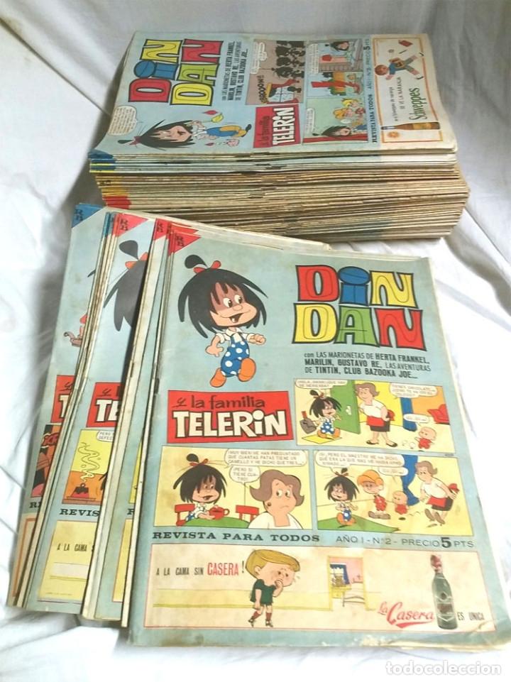 LOTE 27 DIN DAN PRIMERA ÉPOCA BRUGUERA, DEL Nº 6 AL 108 LISTA PUBLICADA, SUELTOS A 3 EUROS (Tebeos y Comics - Bruguera - Din Dan)