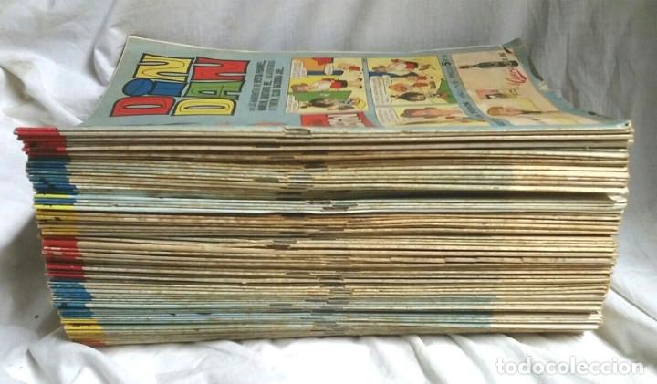 Tebeos: Lote 27 Din Dan primera época Bruguera, del nº 6 al 108 lista publicada, sueltos a 3 euros - Foto 2 - 182513387