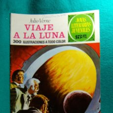 Tebeos: VIAJE A LA LUNA-JULIO VERNE-JOYAS LITERARIAS JUVENILES-300 ILUSTRACIONES A TODO COLOR-1973.. Lote 182569178