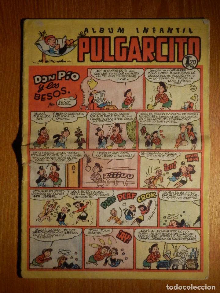 TEBEO - COMIC - ALBUM INFANTIL - PULGARCITO - Nº 160 - DON PÍO Y LOS BESOS - (1950) - BRUGUERA. (Tebeos y Comics - Bruguera - Pulgarcito)