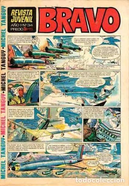 BRAVO - REVISTA JUVENIL- Nº 34 -AQUILES TALÓN-CHICO MONZA-MICHEL TANGUY-BLUEBERRY-1968-M. BUENO-2335 (Tebeos y Comics - Bruguera - Bravo)