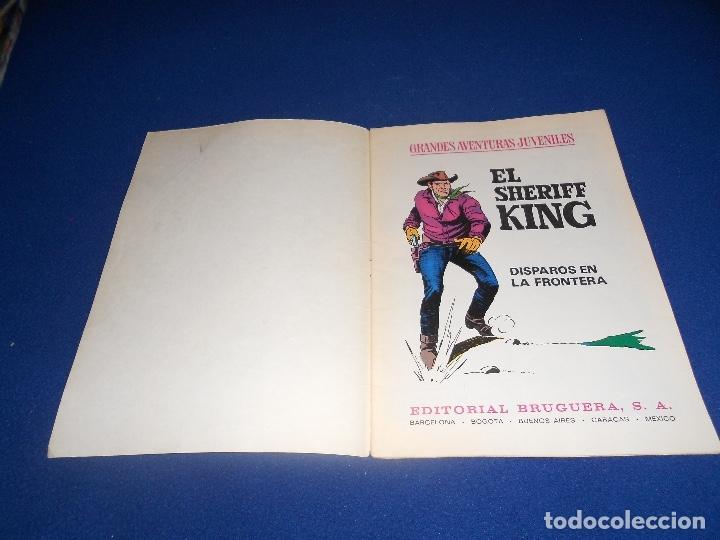 Tebeos: GRANDES AVENTURAS JUVENILES - Nº 2 - EL SHERIFF KING - DISPAROS EN LA FRONTERA - BRUGUERA - 1971 - Foto 2 - 182701795