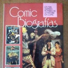 BDs: COMIC BIOGRAFIAS RECOPILACION Nº 4 PELE - JOHNNY WEISSMULLER - LIVINGSTONE - BRUGUERA. Lote 182026506