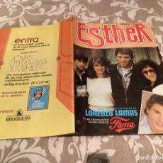Tebeos: ESTHER Y SU MUNDO Nº 116, MAYO 1985. PÓSTER CENTRAL DE LORENZO LAMAS. Lote 182755558