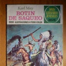 Tebeos: JOYAS LITERARIAS JUVENILES - BOTIN DE SAQUEO - Nº 87 - KARL MAY - BRUGUERA. Lote 182762070