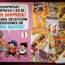 Tebeos: PUBLICIDAD BRUGUERA Nº 1 SOBRE SORPRESA CARTULINA AÑOS 80. Lote 182849482