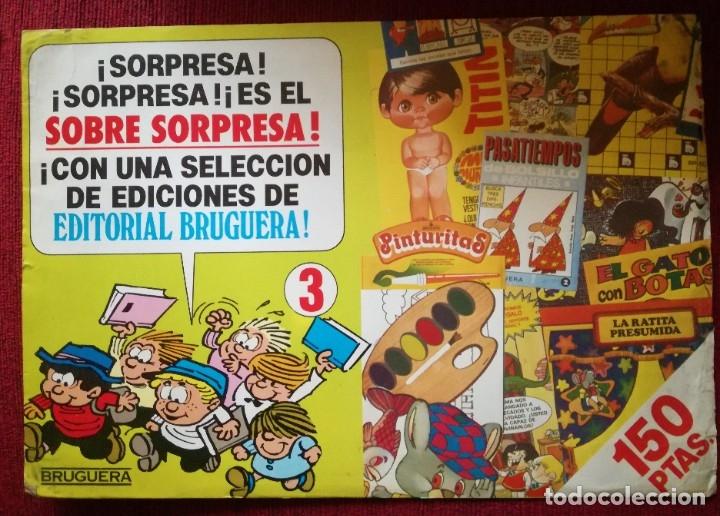 PUBLICIDAD BRUGUERA Nº 3 SOBRE SORPRESA CARTULINA AÑOS 80 (Tebeos y Comics - Bruguera - Cuadernillos Varios)